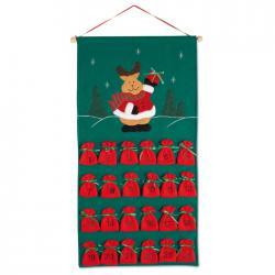 Calendario de adviento navide o de fieltro regalos de - Calendarios navidenos personalizados ...